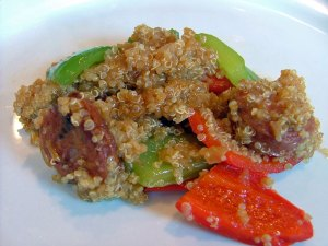 quinoa_sausage_stirfry